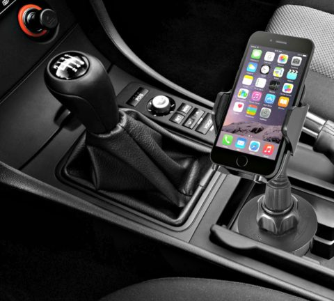 A car cup holder phone holder for rideshare drivers