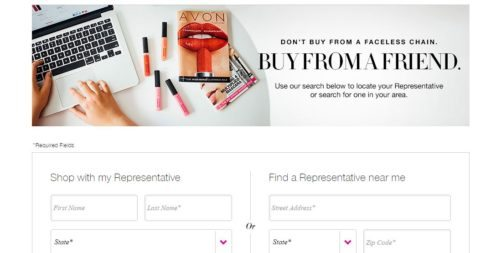 selling avon online website