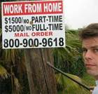 Investigative reporter, Rob Cockerham, uncovers a work-at-home scam. Photo (c) Rob Cockerham